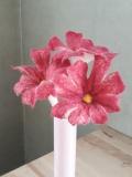fleurs-laine-feutrée-rose-rouge-x3