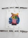tapisserie-laine-feutrée-hibou-multicolor-bois-flotté