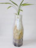 vase-recouvert-de-laine-feutrée-dégradé-brun-moutarde