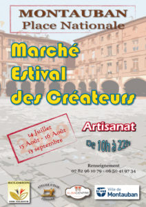 marché de créateurs Montauban été 2020
