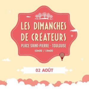 marché de créateurs place st Pierre Toulouse le 02 Août 2020