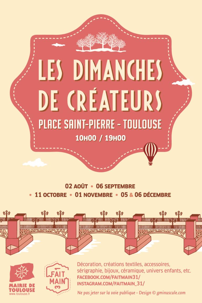 flyer 2020 marchés de créateurs place st pierre Toulouse