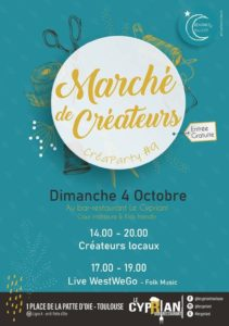 marché de créateurs Toulouse bar le Cypriani