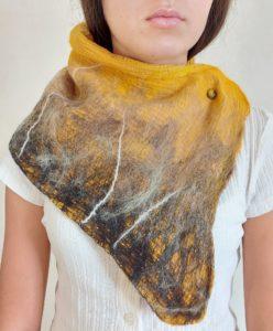 snood laine feutrée coton